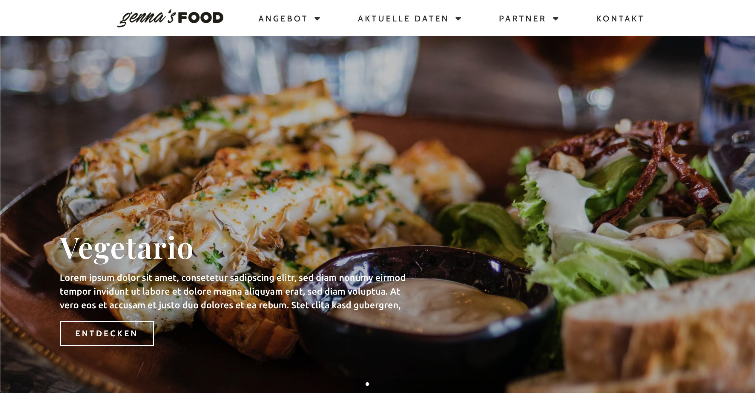 gennas-food screenshot website